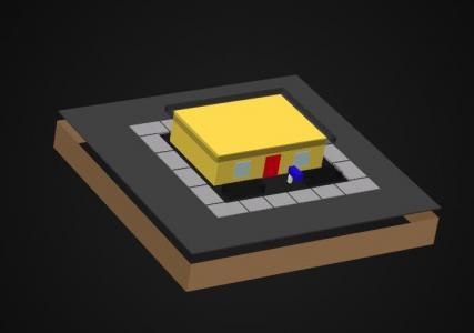 网页动画素材制作代码HTML标签与CSS属性样式设计制作3D建筑房子旋转动画效果