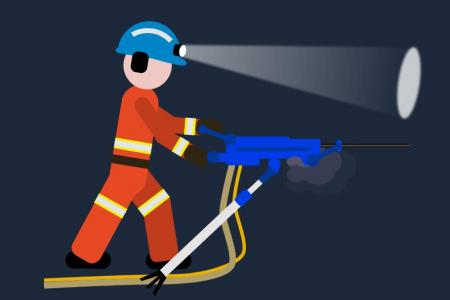 CSS人物动画设计代码与JavaScript特效设计建筑工人在作业场景动画效果