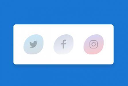 网站特效代码JS与动画属性样式表CSS设计制作带液态动画效果的社交图标