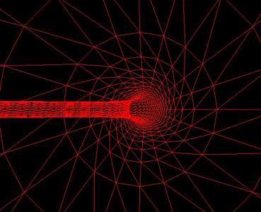 网页黑洞图像设计代码HTML5与canvas绘制超级炫酷的网格黑洞图像动画效果