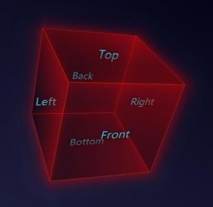 网页3D设计素材代码CSS与JavaScript特效绘制透明3D立方正方体旋转动画效果