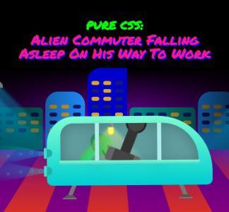 网站卡通动画素材设计代码纯CSS3绘制卡通城市小汽车行驶动画效果