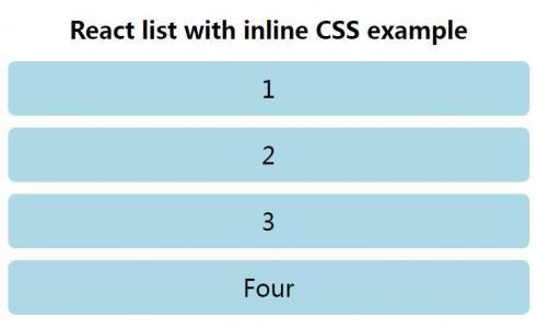 react.js代码与HTML5设计布局制作简单的行内样式列表样式代码