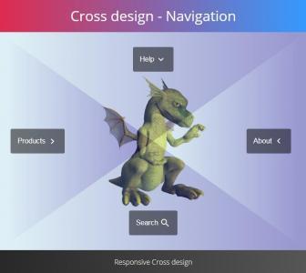 创意网站平面导航设计代码JavaScript与HTML制作鼠标滑过感知方向平面导航