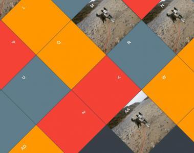 网站九宫格布局样式代码与JavaScript设计创意大气网格图片展示效果