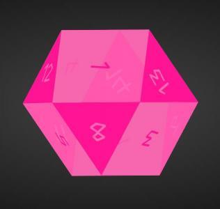 网站3D动画设计代码HTML标签与CSS属性绘制透明的3D多面体旋转动画效果