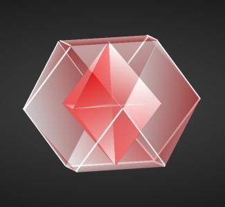 设计素材网站绘制炫酷3D多边形嵌套正方体旋转动画效果