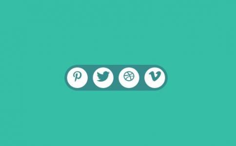 HTML代码与CSS圆角动画属性样式设计制作分享按钮鼠标滑过分享图标滑动切换效果