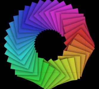 JavaScript特效代码与CSS3设计制作带渐变背景的正方形3D翻转动画效果