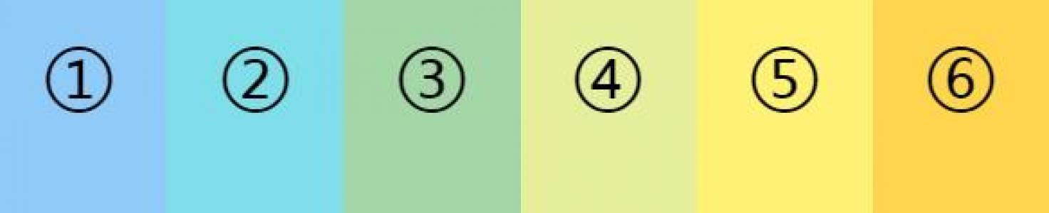 HTML与CSS网页布局设计代码制作带数字标签的色彩矩形鼠标滑过内容滑动展示效果
