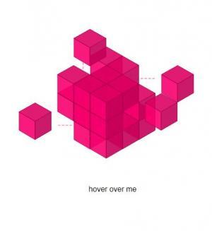 网站3D立体正方体图像制作代码CSS鼠标滑过正方体单元格移动动画特效代码