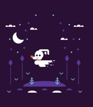JavaScript鼠标移动特效代码与CSS绘制3D视觉卡通夜空图像样式代码