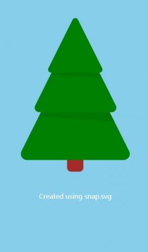 CSS3网页SVG图像制作代码与JavaScript绘制简单松树图形图像样式效果