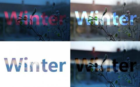 HTML网站图片布局样式代码CSS绘制6款不同背景图片的文字样式效果