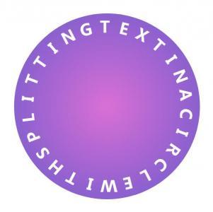 设计素材网CSS圆角属性样式与HTML文本标签设计制作带渐变背景的文本圆形展示效果