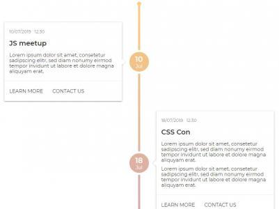 网站时间轴设计代码CSS样式制作大气带日期节点的垂直时间轴样式代码