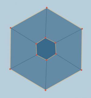 JavaScript网页特效代码与CSS动画绘制带节点切换动画效果的多边形几何图形