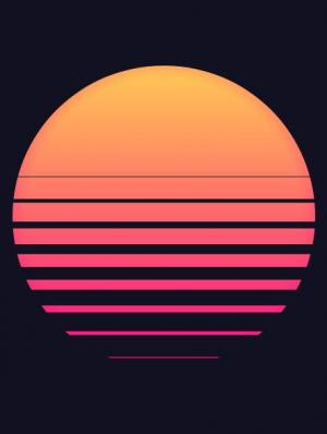 CSS特效代码和网站标签样式绘制卡通海上日出太阳图像样式动画效果