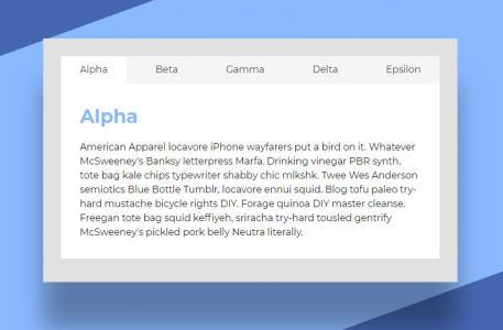 HTML5与jQuery特效代码设计制作清晰简单的tabs选项卡样式效果