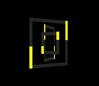 CSS3动画属性样式代码与HTML标签绘制3D正方形几何图旋转动画效果