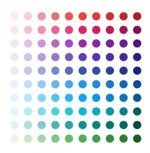 网页圆形渐变背景设计代码纯CSS样式制作圆圈彩色背景图像样式效果