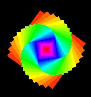 纯CSS特效属性代码绘制渐变背景色彩几何图形旋转动画效果