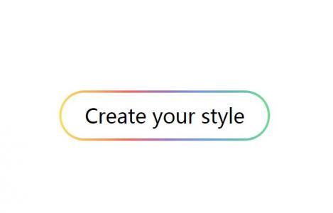 网站创意圆形按钮设计代码CSS样式表绘制边框渐变样式效果的网页圆角按钮