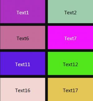 HTML标签网站代码与CSS样式响应式布局排版网页九宫格样式效果
