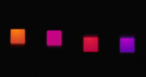 CSS3网页动画素材制作代码绘制不同色彩正方形上下摆动动画效果