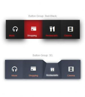 jQuery网页特效代码和HTML标签设计制作带icon图标的大气网站首页导航样式效果