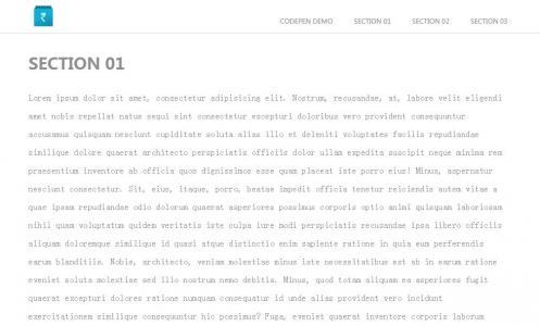 网站静态页面布局代码HTML与CSS布局网站模板鼠标滑动导航悬浮样式效果