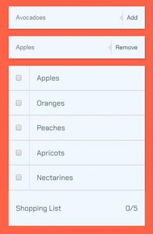 JavaScript特效代码与HTML标签设计制作列表新增与删除功能效果
