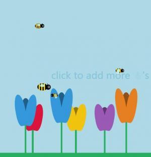 HTML5与CSS动画设计可爱小蜜蜂采蜜场景动画效果网站动画背景制作大全