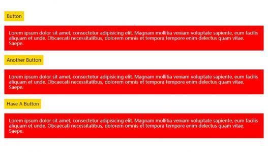 jQuery与CSS网页布局代码实现鼠标点击按钮内容展开隐藏样式效果