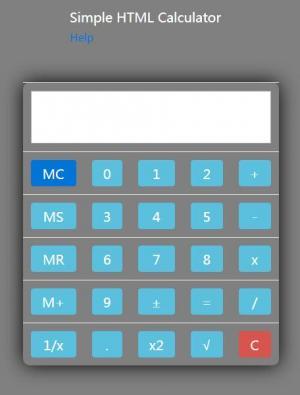纯CSS样式与HTML标签属性制作简单的计算器网站计算器素材设计代码