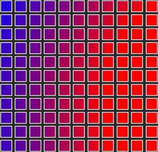jQuery特效网站代码制作渐变背景样式效果的正方形单元格调色面板