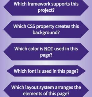 HTML标签网页代码与CSS布局设计大气创意问答列表样式效果