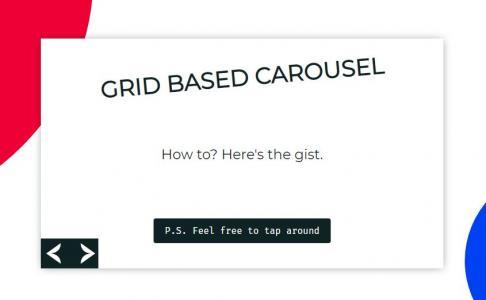 JavaScript网站特效代码与HTML设计创意背景大气幻灯片鼠标点击按钮内容滑动切换效果