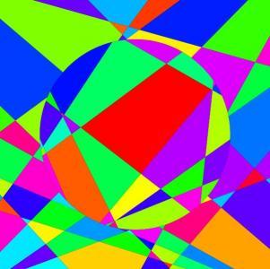 HTML5与canvas画布设计由几何图形绘制成圆形图像样式动画效果