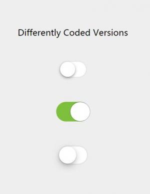 纯CSS3网页样式表设计代码绘制简单滑块开关按钮HTML开关按钮素材下载