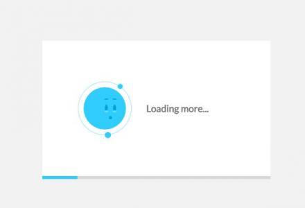 JS特效代码与CSS设计制作带进度条加载的网站loading图标动画效果