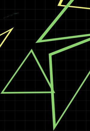 JS特效代码与CSS3动画属性绘制三角形几何图形旋转动画效果