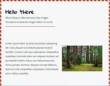 JS与HTML代码排版布局带纹理边框网页静态页面鼠标滑动图片滑动展示效果