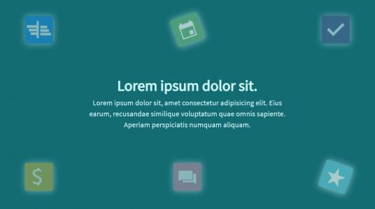 CSS3网页动画特效代码与JS绘制网页背景小图标旋转动画效果