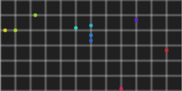 canvas网站特效代码绘制色彩粒子沿轨迹滑动动画效果JS网页图像设计大全