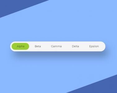 CSS样式表与jQuery特效设计圆角网站导航条鼠标点击导航背景滑动切换动画效果