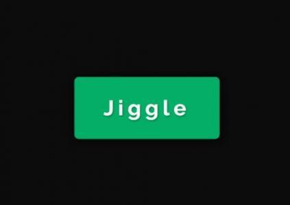 纯CSS3动画特效代码绘制间隔跳动的圆角绿色按钮HTML网页按钮UI设计代码