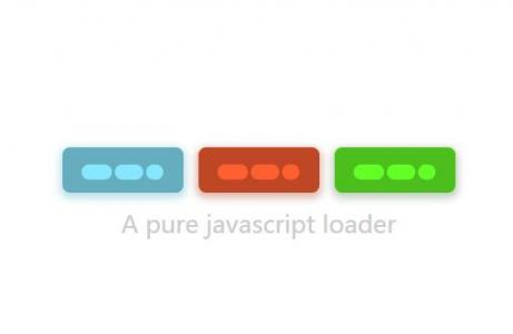 JavaScript和CSS样式绘制素材网站网页数据加载loading图标动画代码