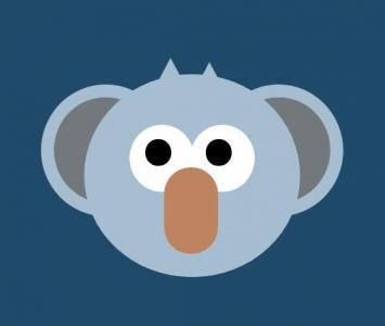 纯CSS动画属性特效绘制可爱考拉图像头像动画效果网页卡通动物头像设计和下载