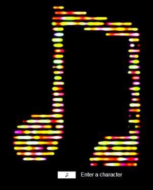 HTML5与canvas特效代码绘制阴影素材音符图形图像动画展示效果